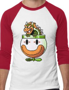 Bowser and Clown Copter Men's Baseball ¾ T-Shirt