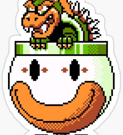 Bowser and Clown Copter Sticker