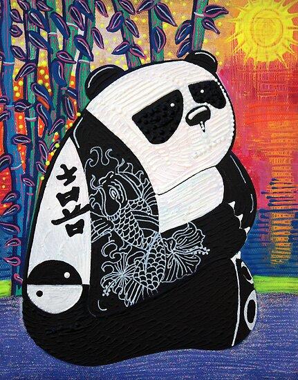 Panda Zen Master by Laura Barbosa
