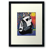 Panda Zen Master Framed Print