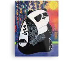 Panda Zen Master Metal Print