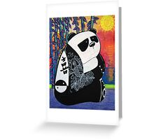 Panda Zen Master Greeting Card