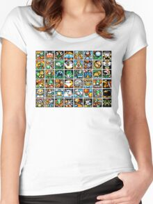 Yoshi's Island Level Icons Women's Fitted Scoop T-Shirt