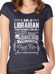 I AM A LIBRARIAN Women's Fitted Scoop T-Shirt
