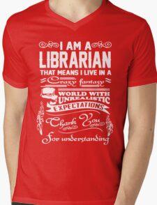 I AM A LIBRARIAN Mens V-Neck T-Shirt