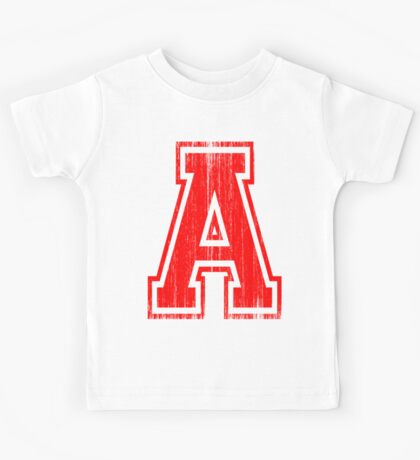 Big Red Letter A Kids Tee