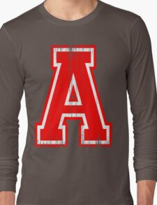 Big Red Letter A Long Sleeve T-Shirt