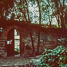 Outside Petrach's house Arqua Petrarcha Italy 198404170020  by Fred Mitchell