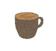 Coffee Grounds Coffee Cup by starcloudsky