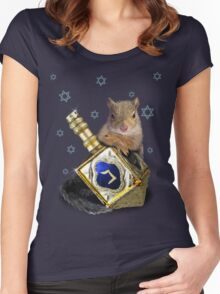 Hanukkah Squirrel Women's Fitted Scoop T-Shirt