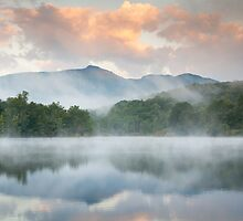 North Carolina Grandfather Mountain Reflects in Price Lake by MarkVanDyke