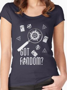 Multifandom - White Women's Fitted Scoop T-Shirt