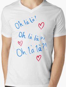 Oh la la Mens V-Neck T-Shirt