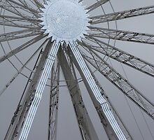 Wheel in Winter Wonderland by Sandra Caven