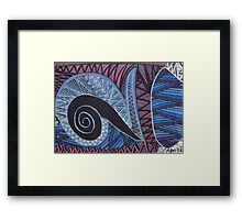 Colorful Abstract Sea Print Framed Print