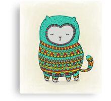 cozy cat Canvas Print