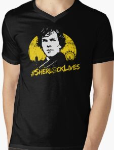 #SherlockLives Mens V-Neck T-Shirt