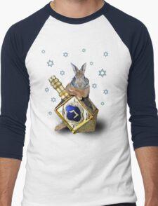 Hanukkah Bunny Rabbit Men's Baseball ¾ T-Shirt