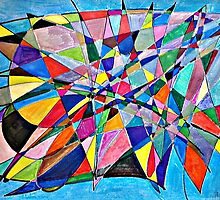 Whale watching -Abstract art by Mary Pat Nally