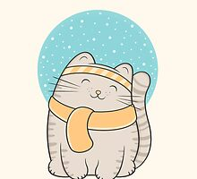 fin, the snow cat by kimvervuurt