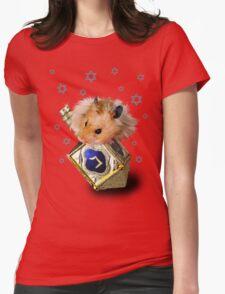 Hanukkah Hamster Womens Fitted T-Shirt