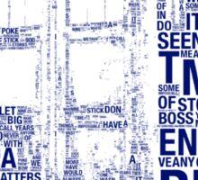 Tardis of quotes  Sticker