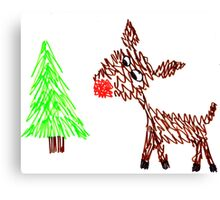 Rudolph the Red-Nosed Doodle Canvas Print