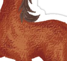 Horse is walking Sticker