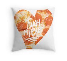 Touch My Butt Pizza Throw Pillow