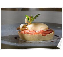 Woodruff tart with strawberries and champagne ice cream Poster