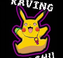 Raving Pikachu by chaunce