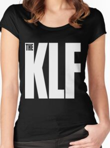 The KLF Logo (White) Women's Fitted Scoop T-Shirt