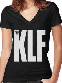 The KLF Logo (White) Women's Fitted V-Neck T-Shirt