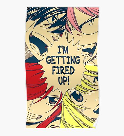 Fairy Tail Fired Up (Color) Poster