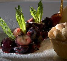 Blueberry ragout with almond tartlet by Stefan Bau