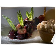Blueberry ragout with almond tartlet Poster