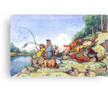 Summer fishing. Big catch Canvas Print