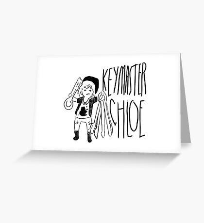 KeyMaster Chloe Greeting Card