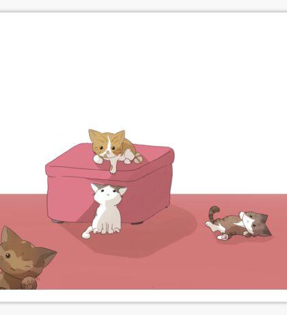 Chibi Kitties Sticker