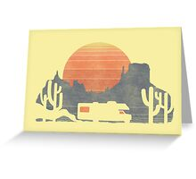 Trail of the dusty road Greeting Card