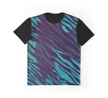 Zebra pattern Shaka Zulu green Graphic T-Shirt