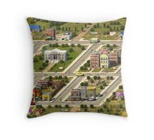 Onett (with banner) Throw Pillow