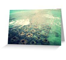 Large Rocks In Ocean Greeting Card
