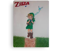Link with Ocarina Canvas Print