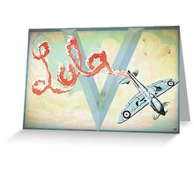 Spitfire Skywriting Greeting Card