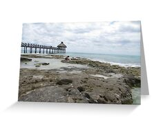 Ocean and Pier View Greeting Card