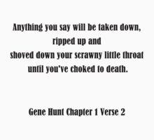Gene Hunt Chapter 1 Verse 2 by pandagoo