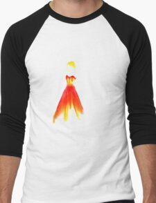 Fiery Dress Fashion illustration Men's Baseball ¾ T-Shirt