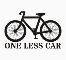 One Less Car Sticker by Rob Price