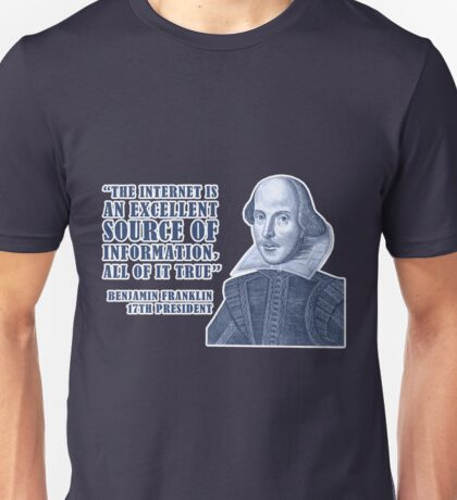 Franklin Internet Quote Unisex T-Shirt